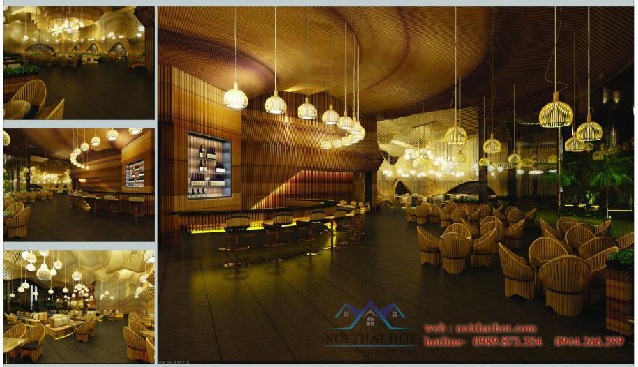 thiết kế quán cafe tre đẹp tại hà nội