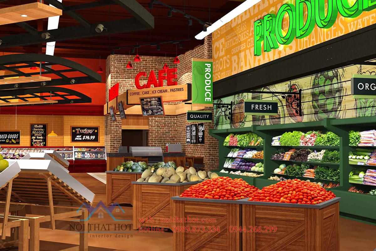 thiết kế siêu thị tại Hà Nội