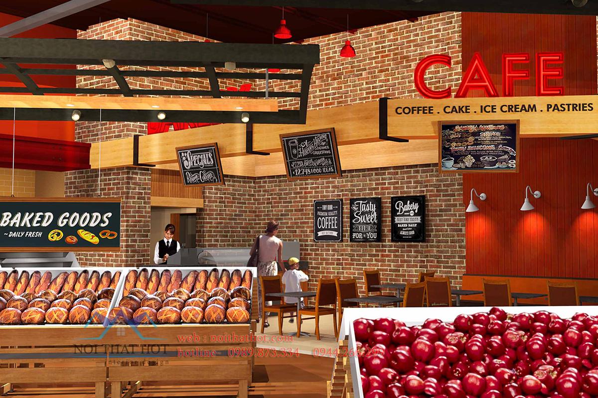 Thiết kế siêu thị hợp lý giúp không gian đẹp, thiết kế cửa hàng tạp hóa