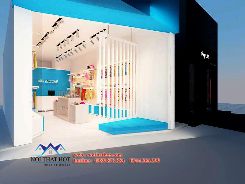 thiết kế cửa hàng thời trang trẻ em ở Hà Nội