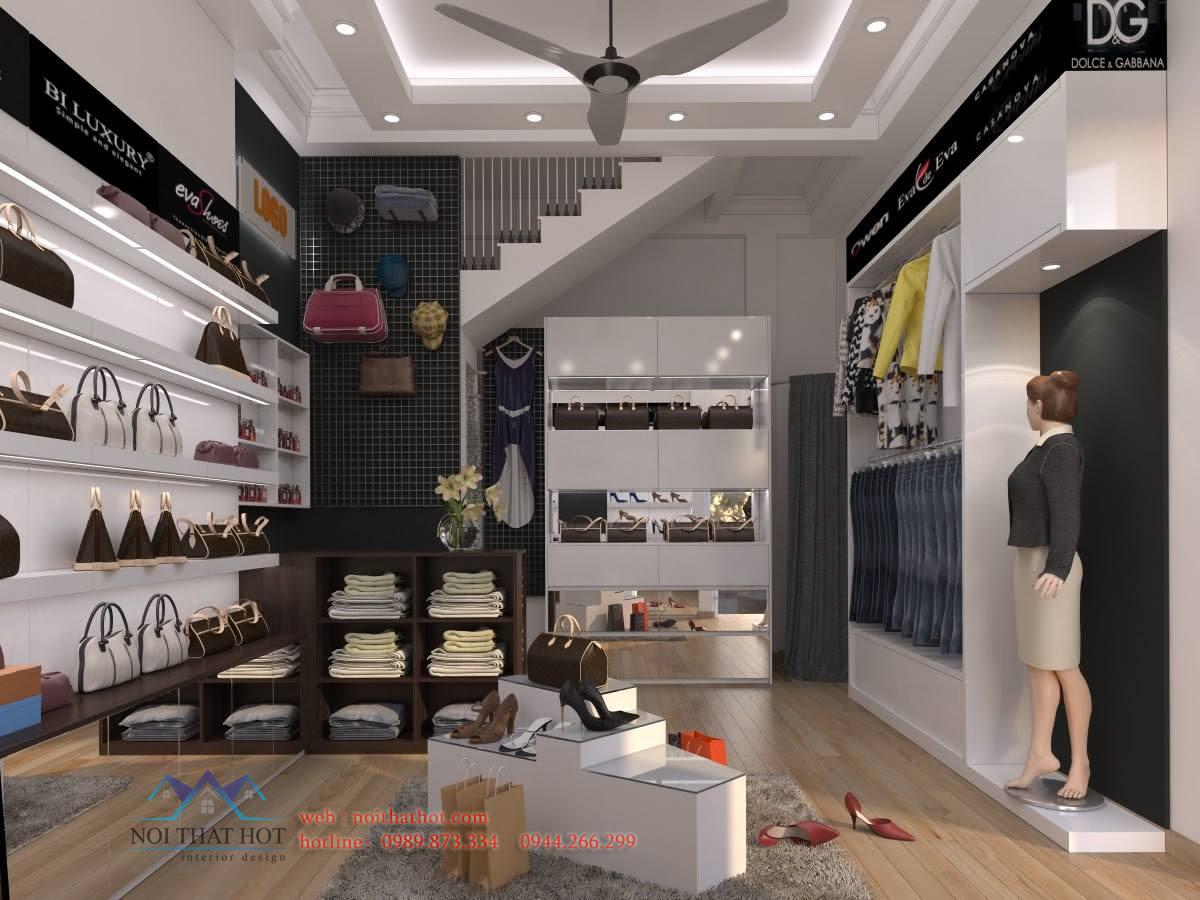 Thi công shop thời trang, thiết kế shop thời trang