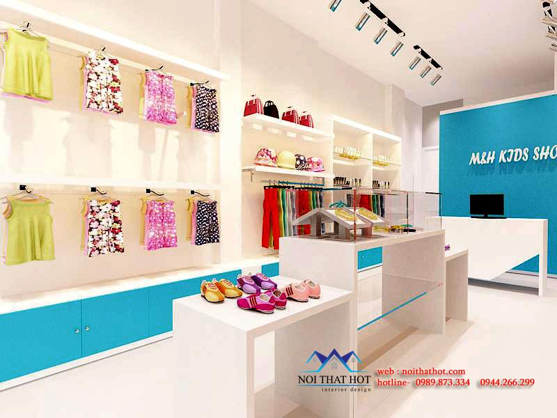 thiết kế cửa hàng thời trang trẻ em diện tích nhỏ