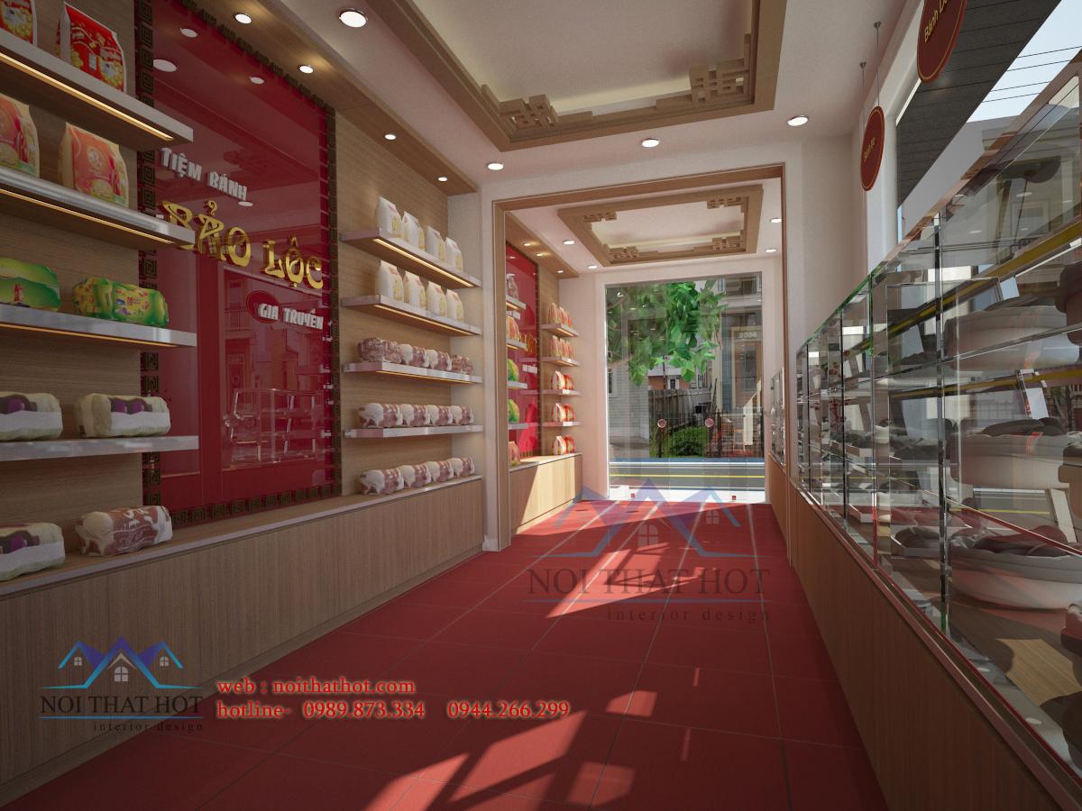 Thiết kế cửa hàng bánh ngọt hiện đại lịch sự