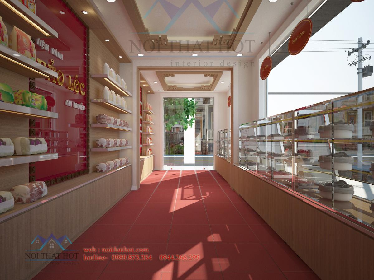 thiết kế cửa hàng bánh ngọt sạch sẽ