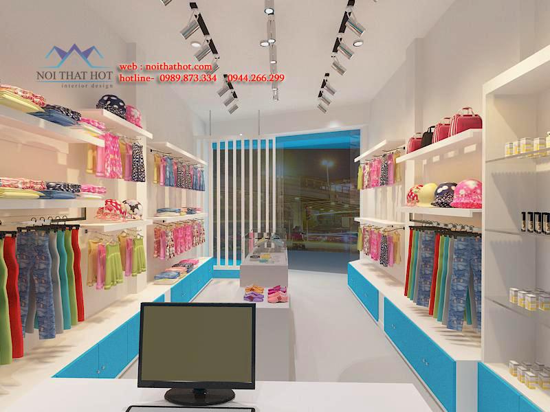 Mẫu thiết kế cửa hàng thời trang trẻ em