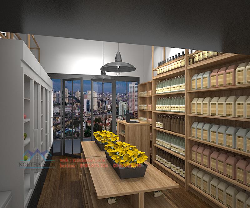 thiết kế cửa hàng hoa quả đẹp