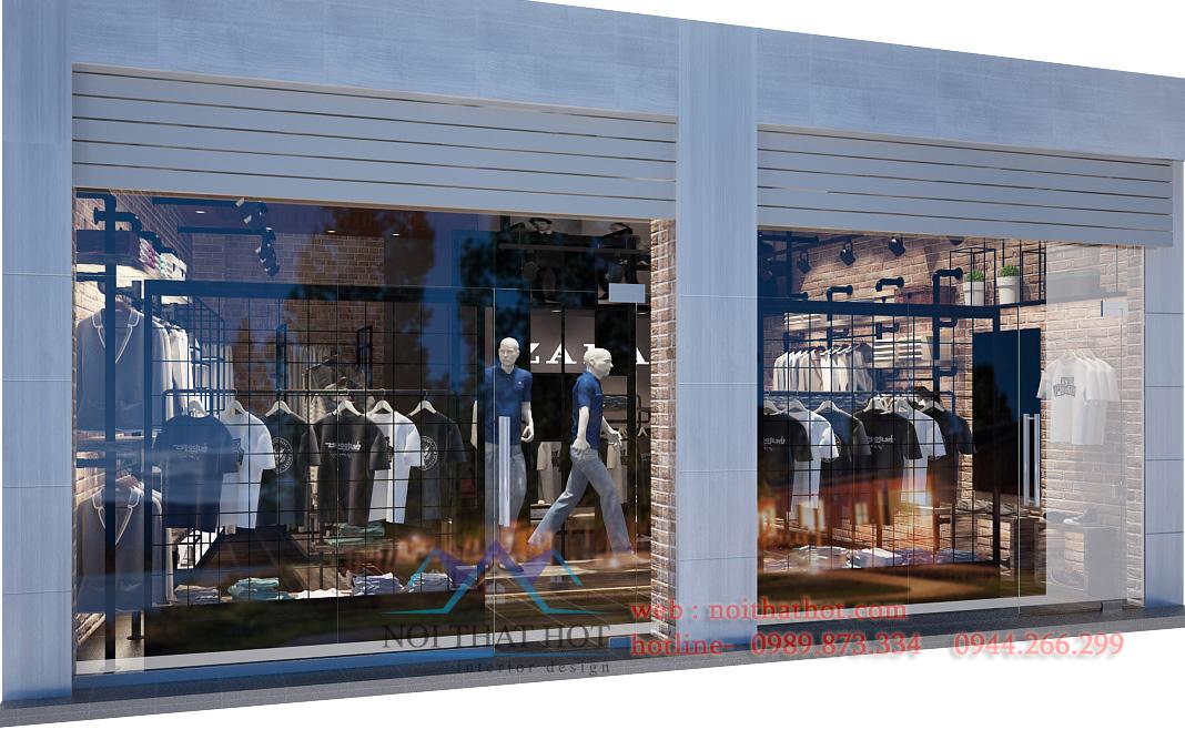 thiết kế cửa hàng thời trang nam chuyên nghiệp
