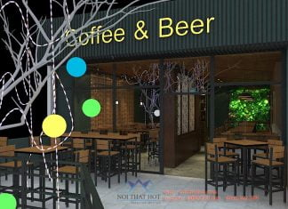 Thiết kế quán cafe bia