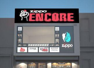 Thiết kế cửa hàng bật lửa Zippo