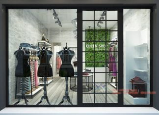 thiết kế shop thời trang nữ