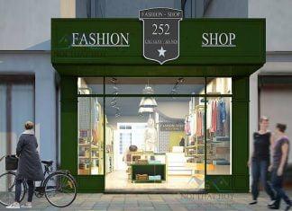 thiết kế shop thời trang trẻ