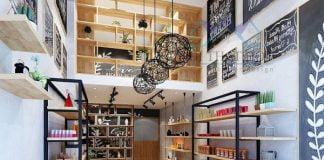 thiết kế cửa hàng đồ xách tay
