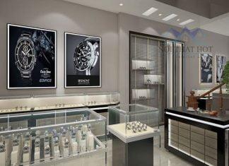thiết kế cửa hàng đồng hồ