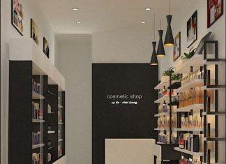 Thiết kế cửa hàng mỹ phẩm diện tích nhỏ