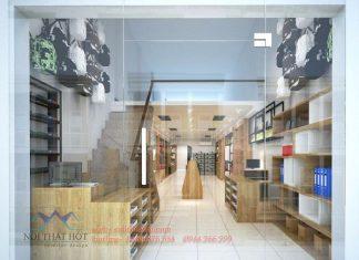 Thiết kế cửa hàng lưu niệm - văn phòng phẩm