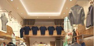 Thiết kế cửa hàng thời trang diện tích nhỏ
