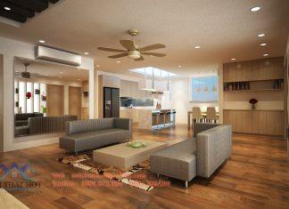 thiết kế chung cư đẹp hoàn thiện