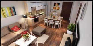Thiết kế nội thất chung cư 2 phòng ngủ 70m2