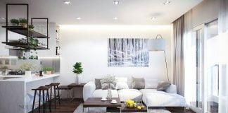 Thiết kế nội thất chung cư hai phòng ngủ 80m2