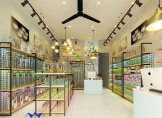 Thiết kế cửa hàng pha lê, thủy tinh