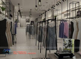 thiết kế cửa hàng thời trang