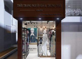 Thiết kế shop thời trang người già