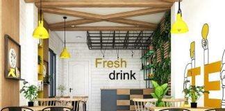 Thiết kế quán nước ép hoa quả