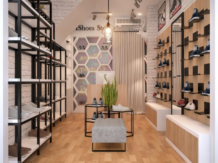 Thiết kế cửa hàng giày dép đẹp