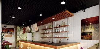 Thiết kế thi công quán trà sữa
