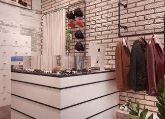 Thiết kế cửa hàng thời trang nam đẹp