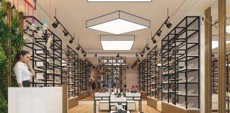Thiết kế shop giày dép My My đẹp