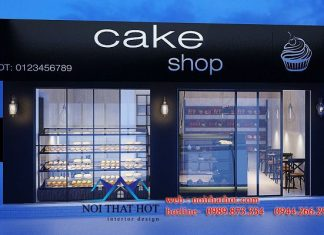 Thiết kế shop bánh