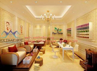 Thiết kế cửa hàng nail và mi