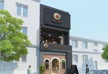 Thiết kế quán cafe kết hợp trà sữa