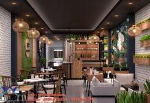 Thiết kế quán cafe 40m2