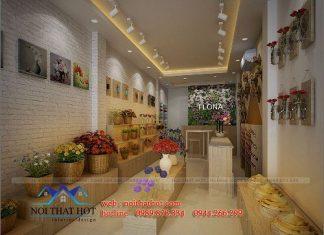 Thiết kế thi công cửa hàng hoa tươi