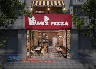 Thiết kế cửa hàng pizza