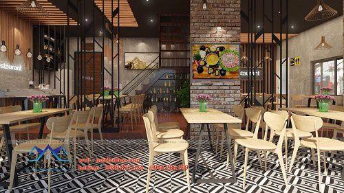 Thiết kế nhà hàng lẩu nướng 90m2