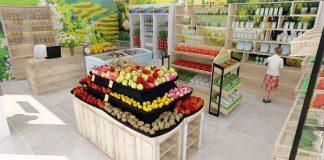 Thiết kế cửa hàng hoa quả sạch