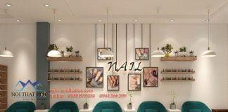 thiết kế cửa hàng nail