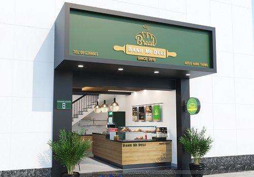 Thiết kế cửa hàng bánh mì