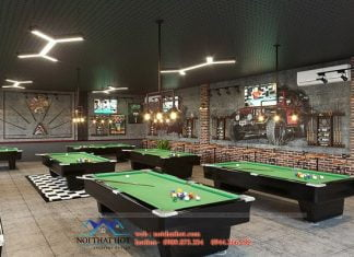 Thiết kế quán billiards