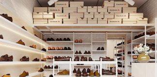 Thiết kế cửa hàng giày dép diện tích nhỏ