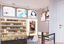 thiết kế cửa hàng kính áp tròng diện tích nhỏ