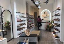 thiết kế thi công shop giày dép đẹp