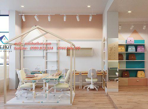 Thiết kế cửa hàng bán đồ nội thất cho bé