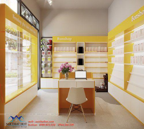 Thiết kế cửa hàng phụ kiện điện thoại
