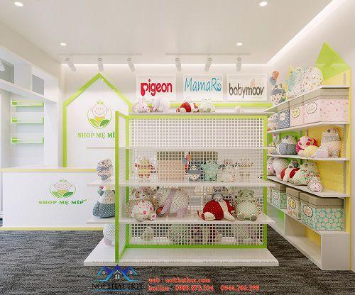 thiết kế cửa hàng đồ sơ sinh