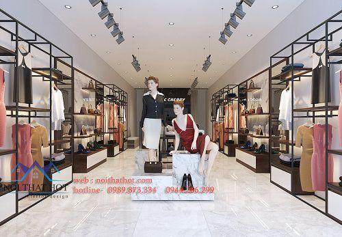 Cách thiết kế shop quần áo nữ