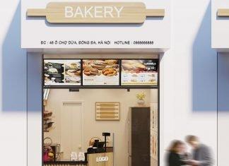 Thiết kế cửa hàng bánh mì diện tích nhỏ